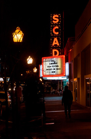 The SCAD theater on Broughton Street in Savannah. SCAD = Savannah College of Art and Design.