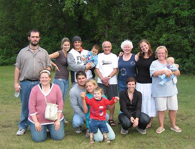 Bert and Fran with assorted grandchildren and great grandchildren