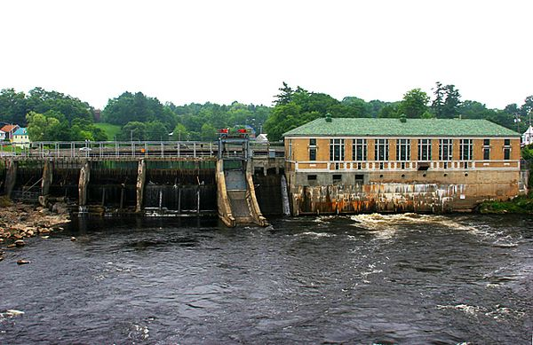 Hydroelectric plant at Skowhegan on the Kennebec River