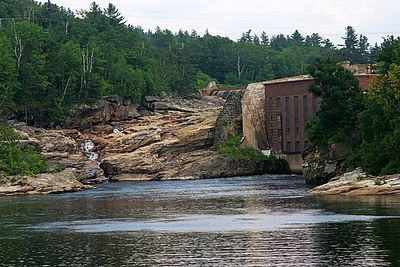 Hydroelectric plant on the Androscoggin River at Rumford