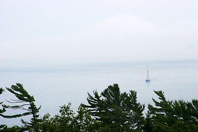 Acadia National Park.  A bit foggy...