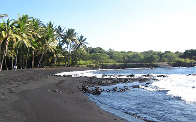 More of the black sand beach