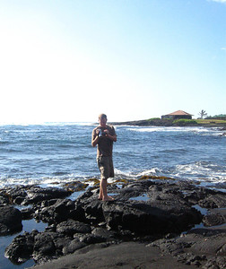 Our first stop was at the black sand beaches of Punulu'u