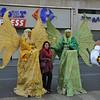 Mimes along Barcelona's La Rambla.
