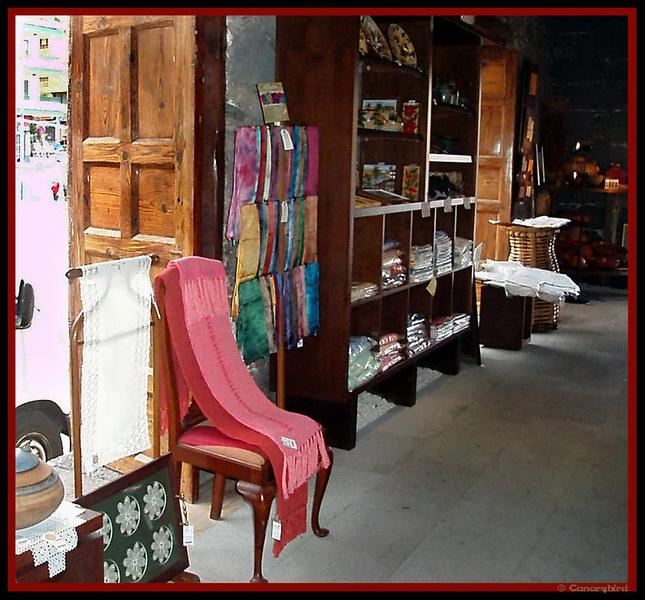 Gift shop of crafts and artesan goods made in the Canary Islands.  The shop is located in the old customs house, Puerto de la Cruz, Tenerife.