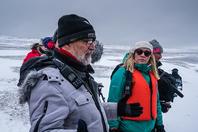 Historian and Author Ken McGoogan interpreting the site at Beechey Island