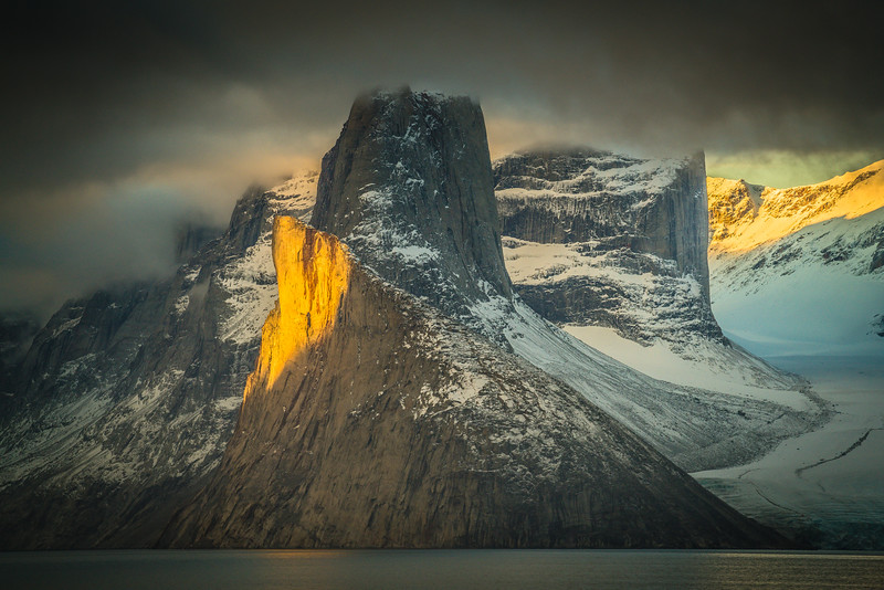 Sam Ford Fjord at dawn.