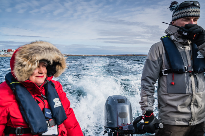 First zodiac ride: from Cambridge Bay to the Ocean Endeavour