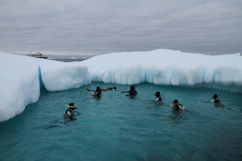Snorkeling in Greenland