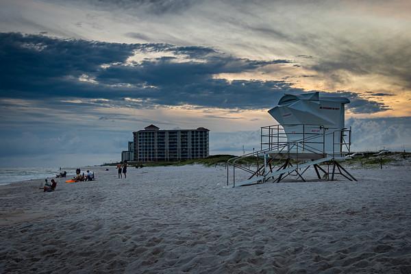 Lifeguard Stand Twilight at Johnson Beach