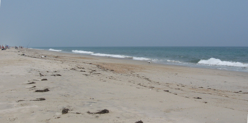 In June, 2008, Bev and I, along with our friends Shirley and Toni, rented a house in Salvo, on the Outer Banks of North Carolina. We'd previously stayed in Kill Devil Hills; Salvo is smaller and quieter. There weren't very many people on the beach.