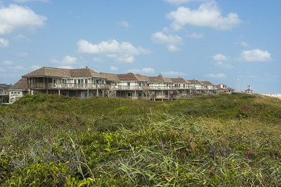 These upscale, shore front homes were next to the condominium complex.