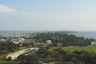 View south from the top of the Corolla Light House.
