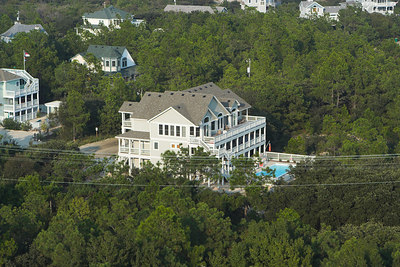 There are impressive homes in the town of Corolla.