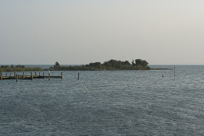View looking south from the pier.