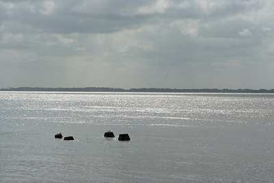 View from the west side of the island looking at the main land.
