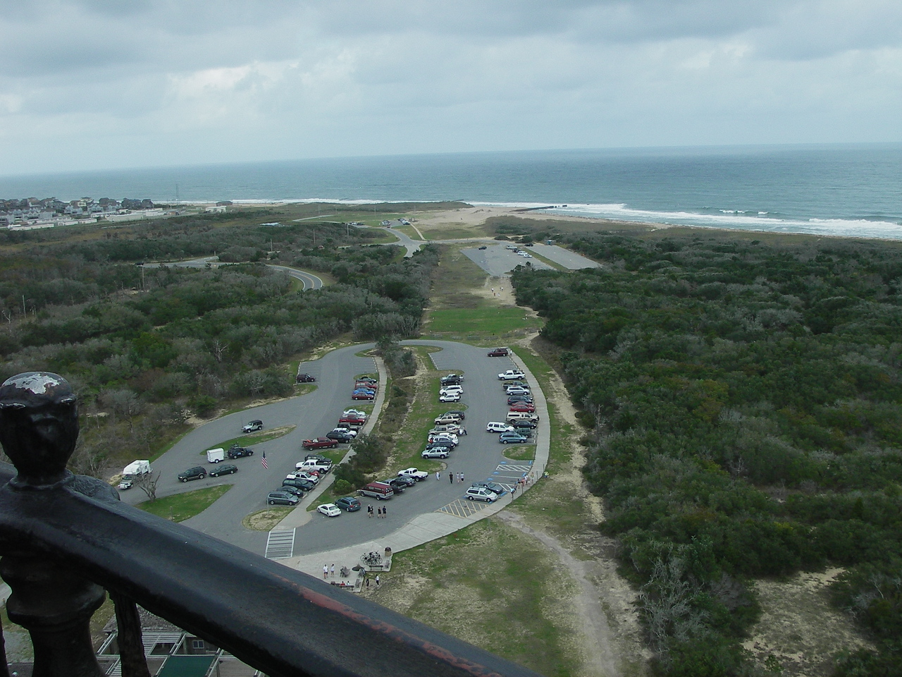 On top of the lighthouse