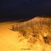 Sand dunes at night on the North Carolina, Outer Banks near Kill Devil Hills.