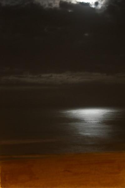 Moonlight over the Atlanta ocean, Kill Devil Hills, North Carolina