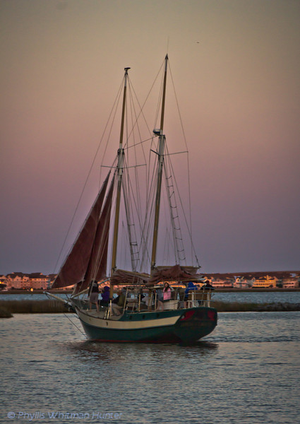 Sunset Sail Returning