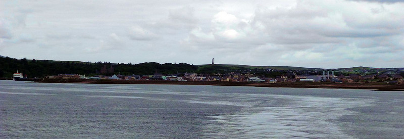 Farewell to Stornoway - the tower on the hill above the town is the Lewis war memorial
