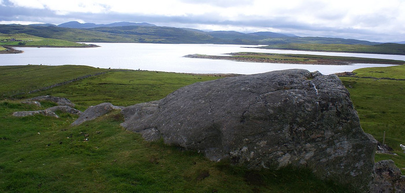 Loch Roag and the landscape of Lewis from Callanish