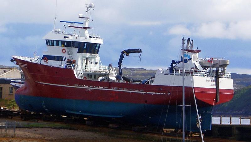 Norwegian fish farm supply vessel