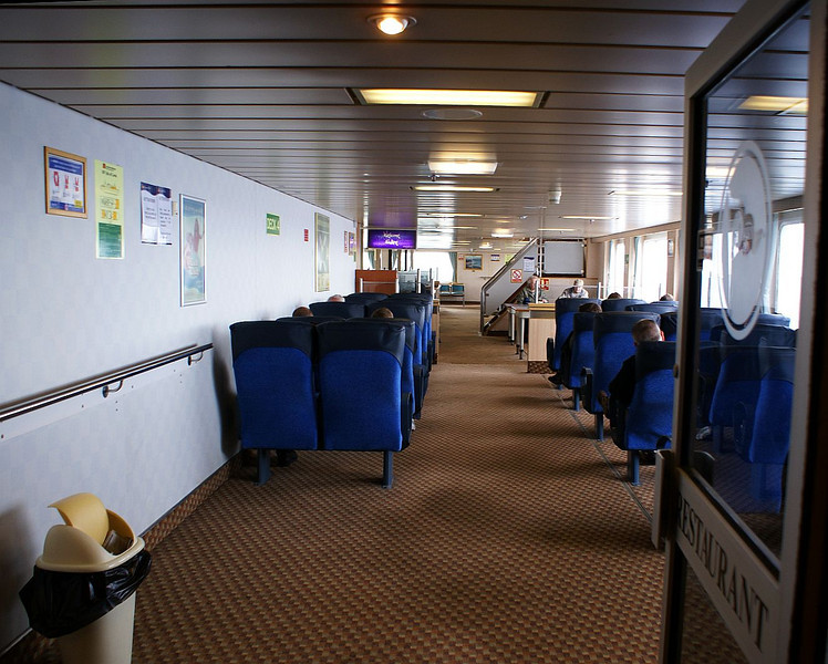 Internal views of motor vessel Isle of Lewis, Cal Mac Ferries' Stornoway - Ullapool vessel (built at the Ferguson Shipbuilders yard in Port Glasgow in 1995