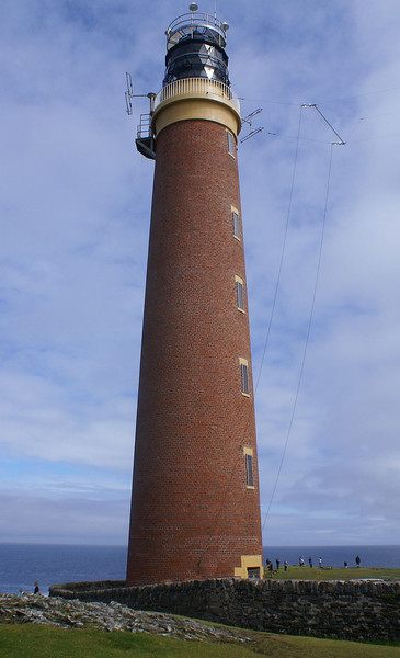 The red brick tower is 37 metres high with 168 steps in the spiral stairway.