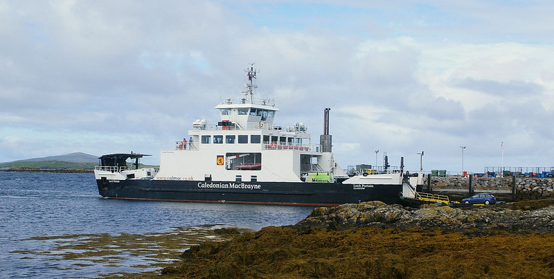 Loch Portain at Leverburgh, loading for another crossing to Berneray