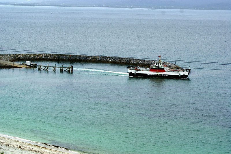 MV Loch Allain departing Eriskay for Barra