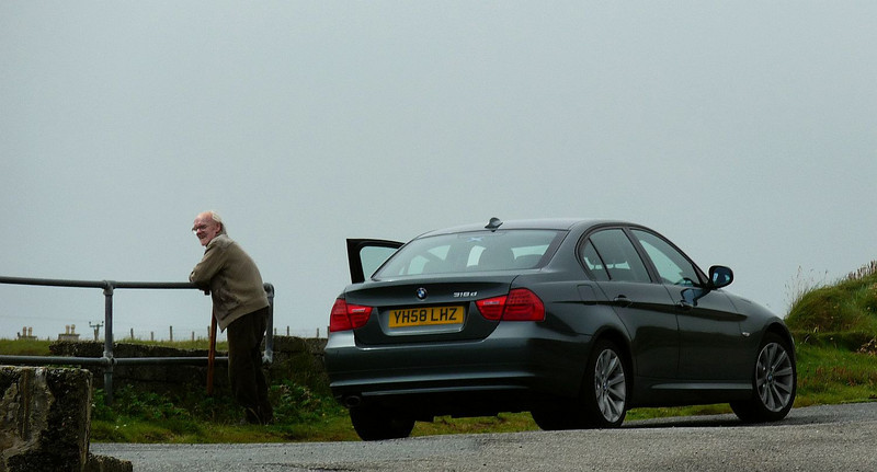 Dad taking in the view at Port of Ness