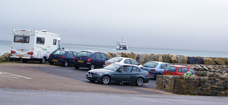 Loch Portain approaching the ferry terminal on Berneray