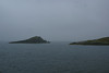 It was so misty in the Little Minch that day we could see nothing of the fine scenery that we knew, from past experience, was there. Eventually, I recognised that we were entering Loch Maddy, the loch of the sea wolves when I caught sight of the 'Maddies' for the first time in about 17 years