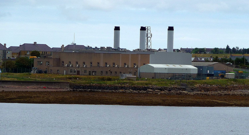 Stornoway's deisel engine electrical generating station - not used often these days but had sprung into life 3 days earlier when a transformer fault on Skye prevented mainland generated electricity from reaching the Outer Hebrides