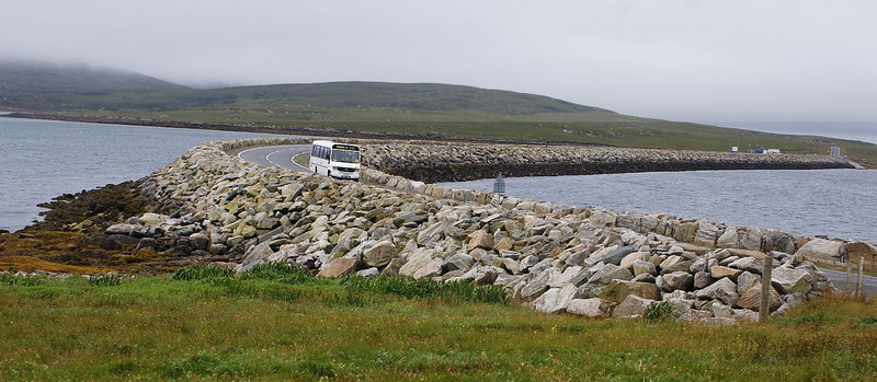This causeway was built between the islands of North Uist and Berneray in 1999 when the ferry service across the Sound of Harris was inaugerated.