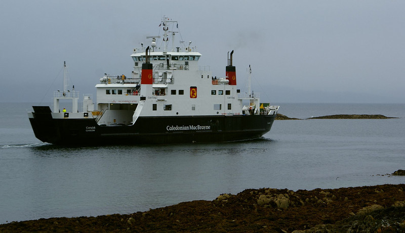 MV Coruisk departing Mallaig for Skye on the sailing immediately prior to the one on which we were booked