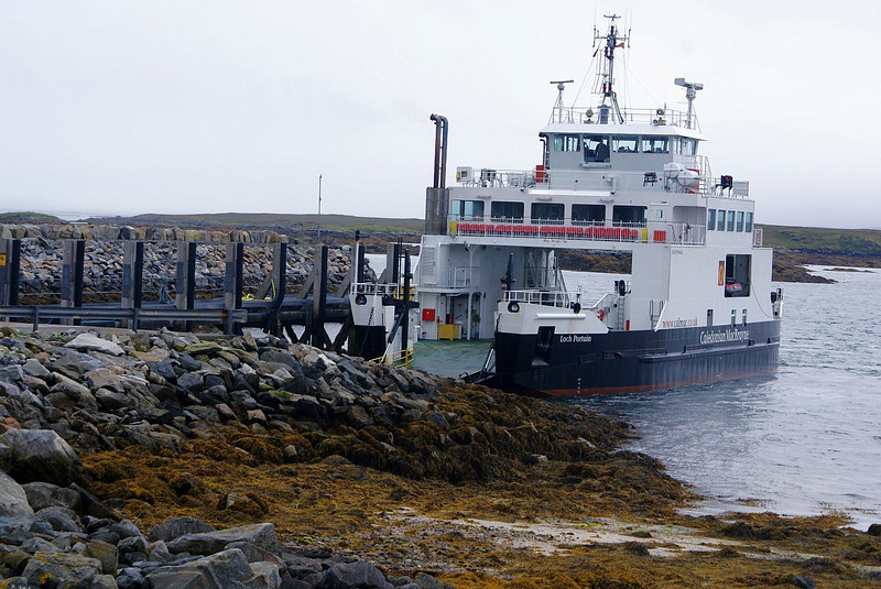 Loch Portain having a wee rest at Berneray before her next winding course through the reef-strewn Sound of Harris