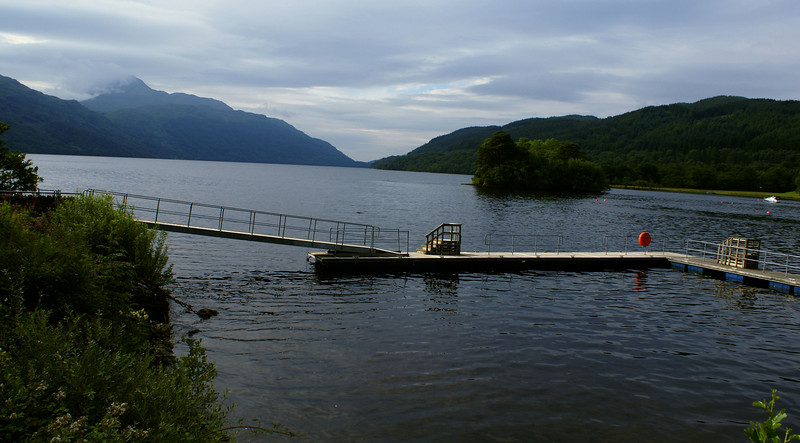 A brief stop to stretch the legs at Inveruglas on Loch Lomondside on the way north to Mallaig