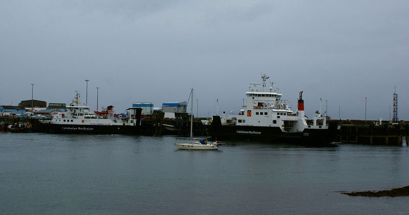 At Mallaig we encountered two of CalMac's ferry fleet, the MV Lochnevis and MV Coruisk