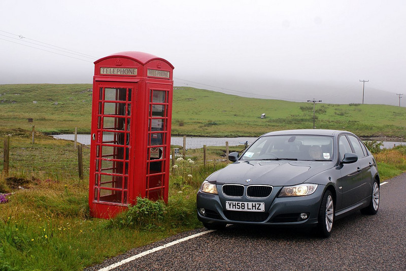 The Outer Hebrides must have the highest population of surviving red telephone kiosks (or phone boxes as they were known). Dad waits patiently in the car while I seek out its origins - like most of the survivors it was a product of the world renowned Carron Foundry near Falkirk. Strangely, you have to stop and think how to use these creatures now - at least it wasn't a 'Push Button B' type phone inside