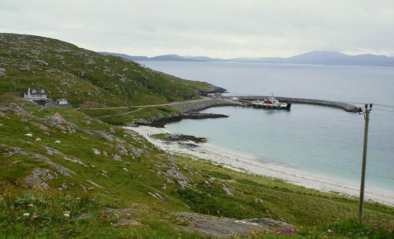 MV Loch Allain at the ferry terminal on Eriskay