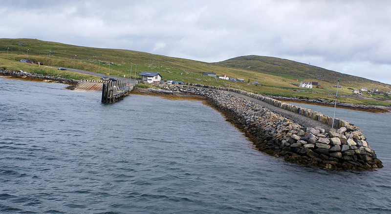 Departing from Berneray on MV Loch Portain
