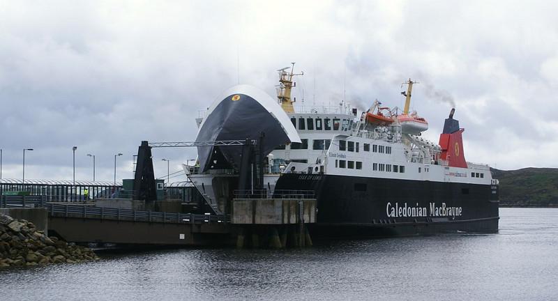 Isle of Lewis unloading at Stornoway