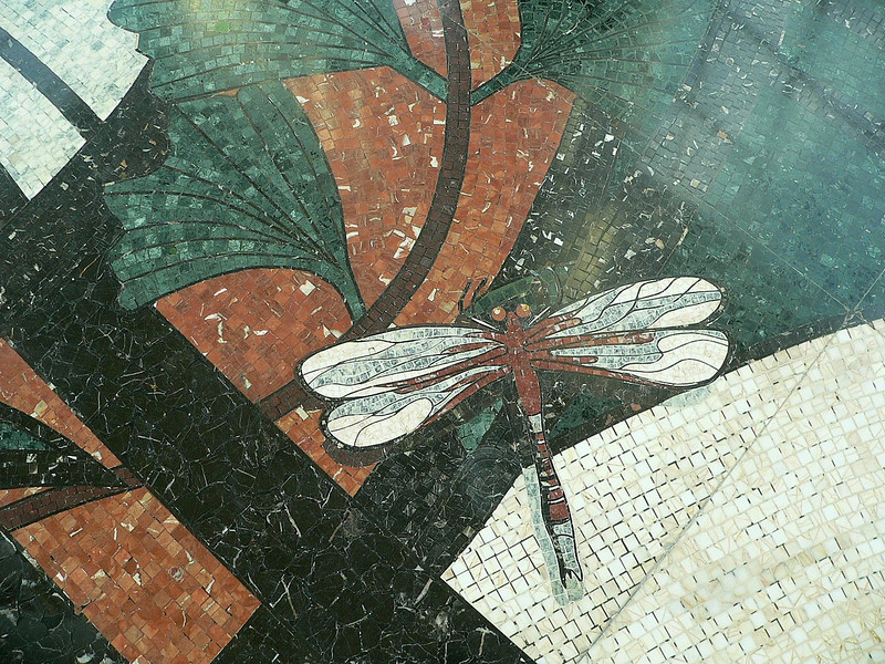 Portion of one of the mosaic floors at the Empire Hotel.