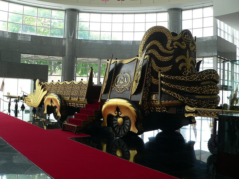 "Part of the Sultan's Royal Regalia.   This is the Sultant's Royal Chariot - used only once for his ""coronation"".   This chariot requires manpower, not horsepower."