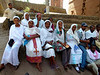 A delightful group of Ethiopians at Lalibela - all very serious in this first photograph, then I said something to them (can't remember precisely what I said) but  just see the difference in the next shot.....