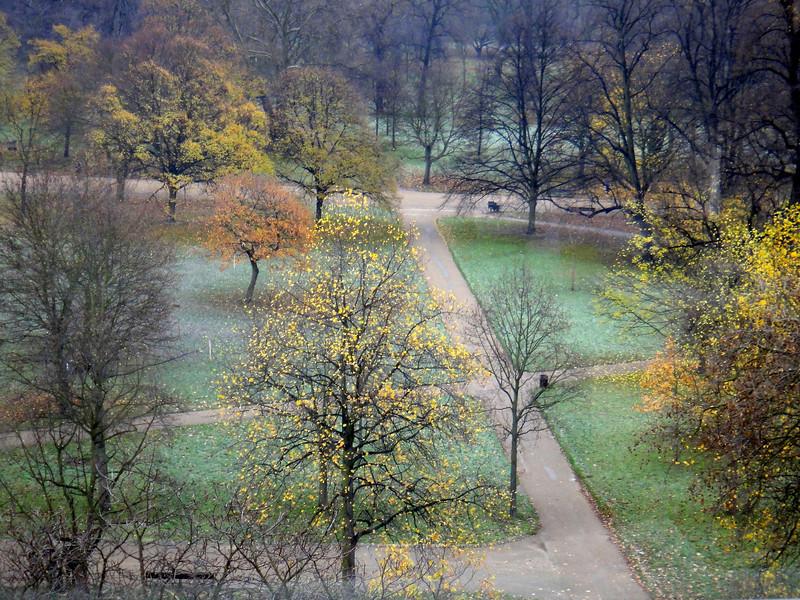 Kensington Gardens from Room 640 at the Royal Garden Hotel, Kensington.