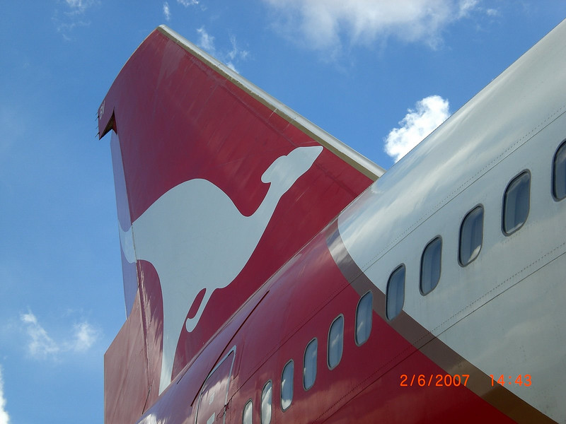 City of Geraldton tail shot, Phnom Penh International Airport.