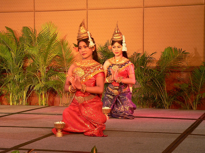 A traditional Cambodian Aspara Dance Performance during our welcome dinner.